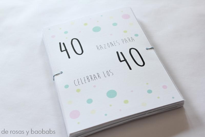 Regalo para un 40 cumplea os de rosas y baobabs - Ideas originales para 40 cumpleanos ...